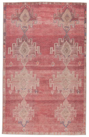 Evadne Medallion Pink & Blue Rug by Jaipur Living