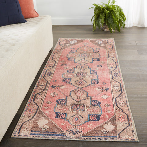 Lani Medallion Pink & Blue Rug by Jaipur Living