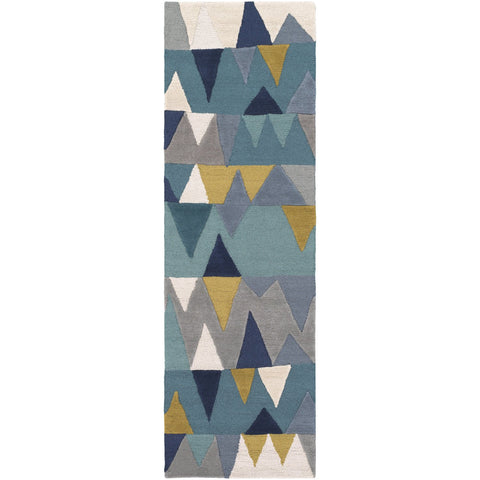 Kennedy KDY-3012 Hand Tufted Rug in Bright Blue & Aqua by Surya