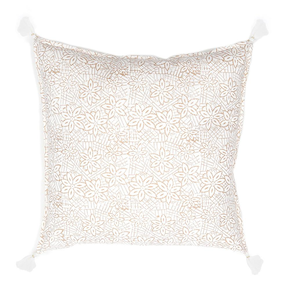 "Keya Hand Blocked Pillow  20"" X 20"" With Insert  design by Pom Pom at Home"