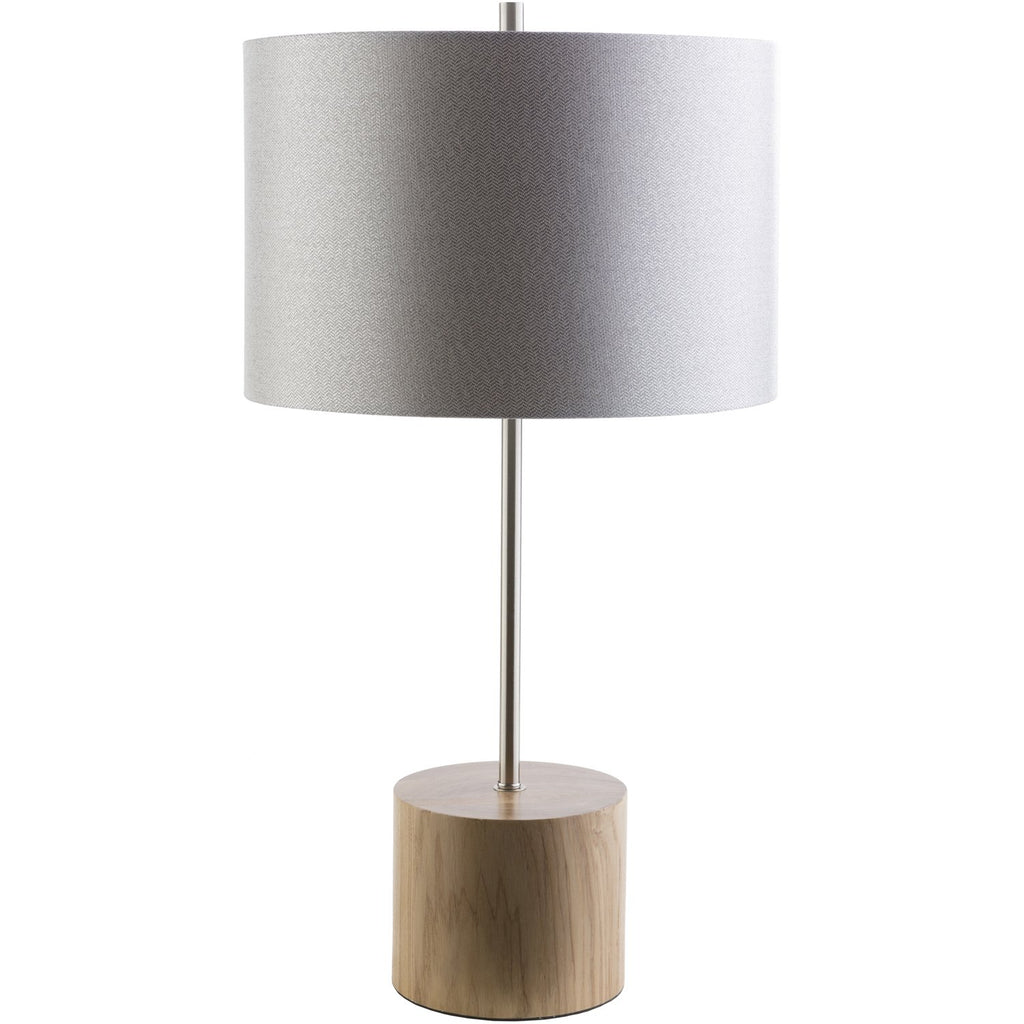 Kingsley KGY-511 Table Lamp in Light Gray & Natural by Surya