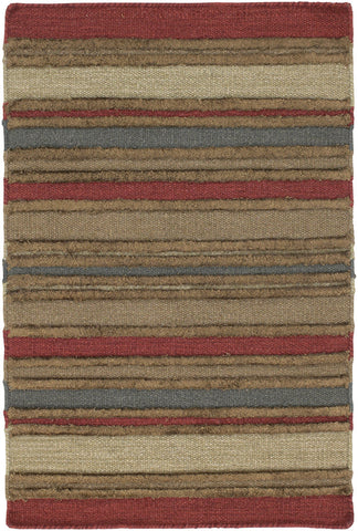 Kilim Collection Flat-Weaved Area Rug in Red, Brown, & Blue design by Chandra rugs