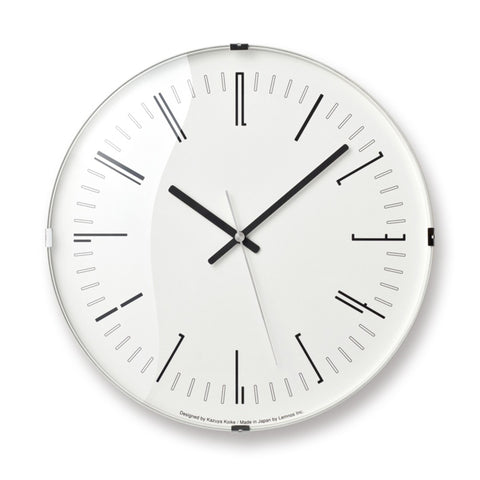 Draw Dome Wall Clock in Various Colors