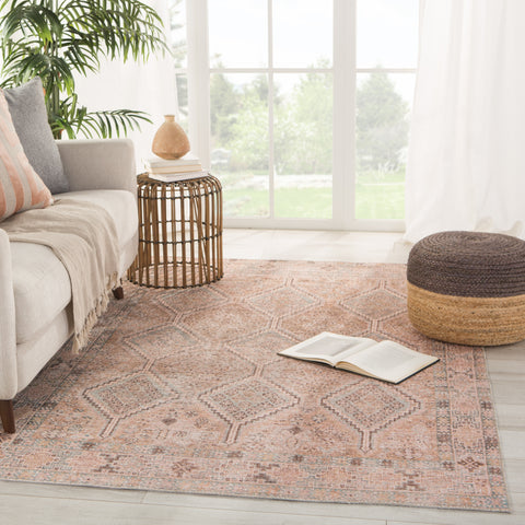 Marquesa Trellis Light Pink/ Blue Rug by Jaipur Living