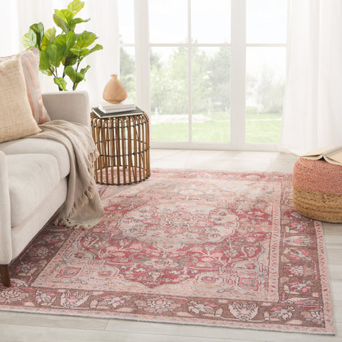 Edita Medallion Pink/ Blue Rug by Jaipur Living