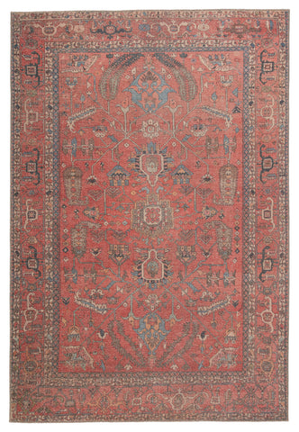 Galina Oriental Rug in Red & Blue by Jaipur Living
