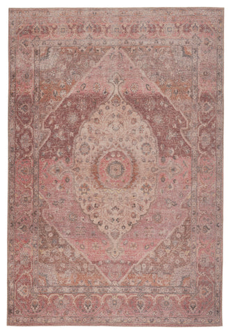 Ozan Medallion Rug in Pink & Burgundy by Jaipur Living