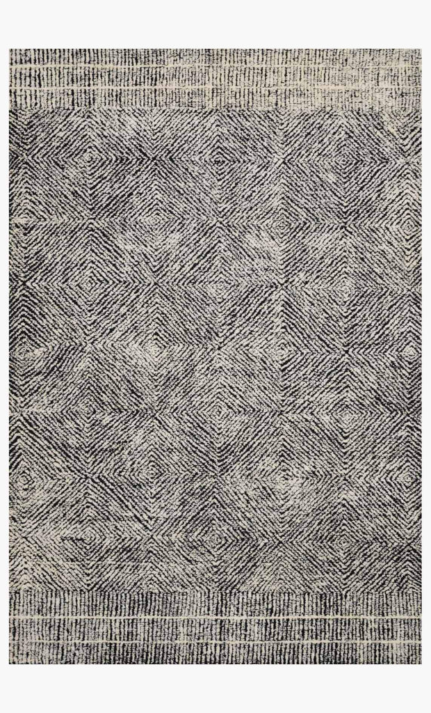 Kopa Rug in Black & Ivory by ED Ellen DeGeneres Crafted by Loloi