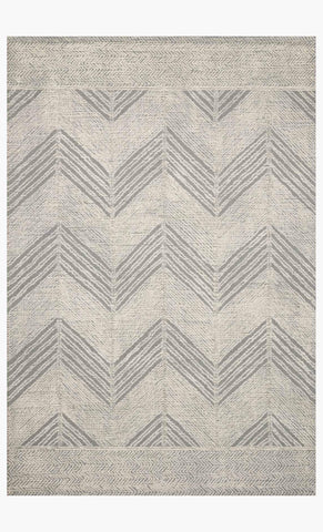 Kopa Rug in Grey & Ivory design by Ellen DeGeneres for Loloi