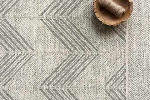 Kopa Rug in Grey & Ivory by ED Ellen DeGeneres Crafted by Loloi