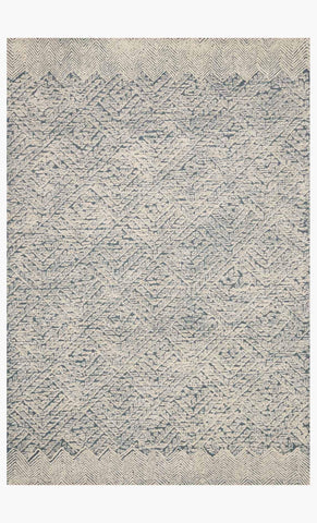 Kopa Rug in Blue & Ivory design by Ellen DeGeneres for Loloi
