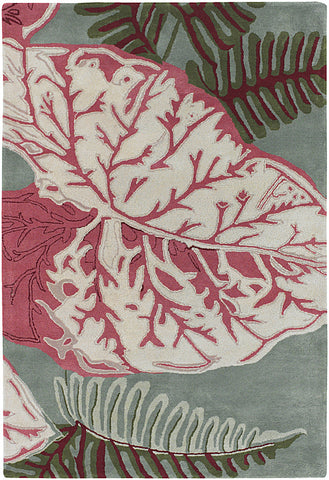 Kronos Frond Hand-Tufted New Zealand Wool Area Rug design by Chandra rugs