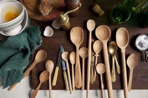 Set of 13 Small Baker's Dozen Wood Spoons design by Sir/Madam