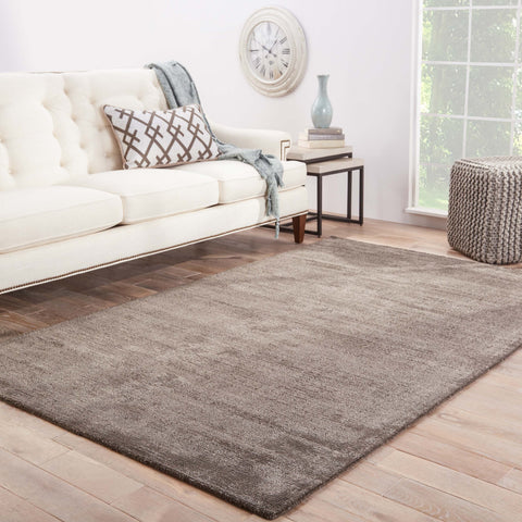Kelle Solid Rug in Dark Gull Gray & Ash design by Jaipur