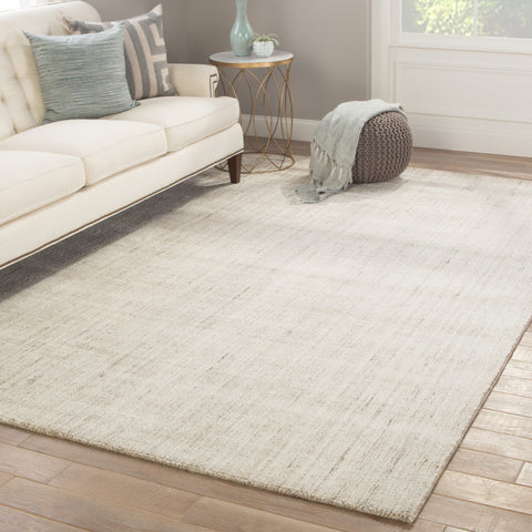 Kelle Handmade Stripe Gray & White Area Rug design by Jaipur Living
