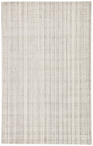 Kelle Handmade Stripe Gray & White Area Rug design by Jaipur