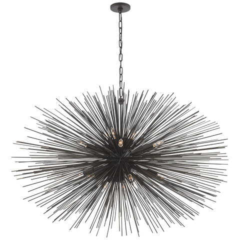 Strada Large Oval Chandelier by Kelly Wearstler