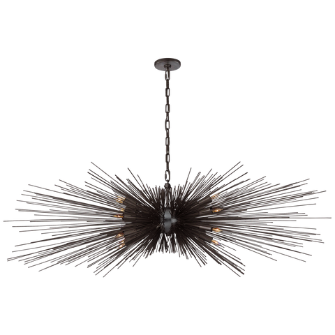 Strada Large Linear Chandelier by Kelly Wearstler