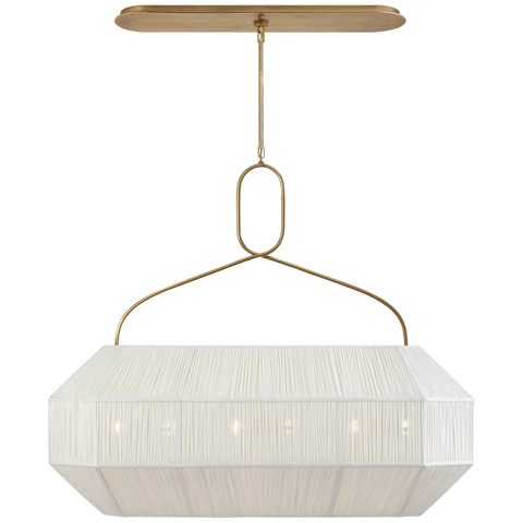Forza Medium Gathered Linear Lantern by Kelly Wearstler