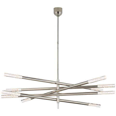 Rousseau Grande Ten Light Articulating Chandelier by Kelly Wearstler