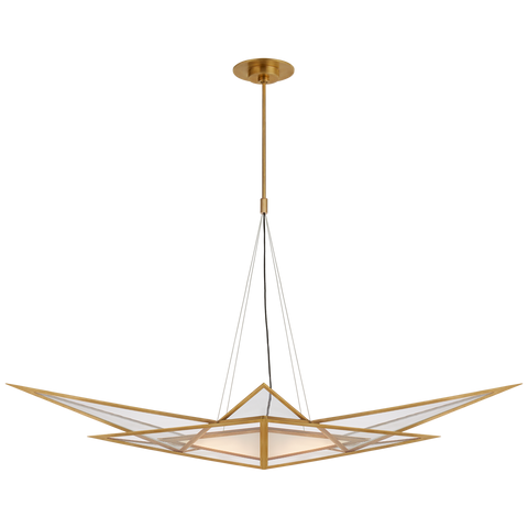 Ori Medium Linear Chandelier by Kelly Wearstler