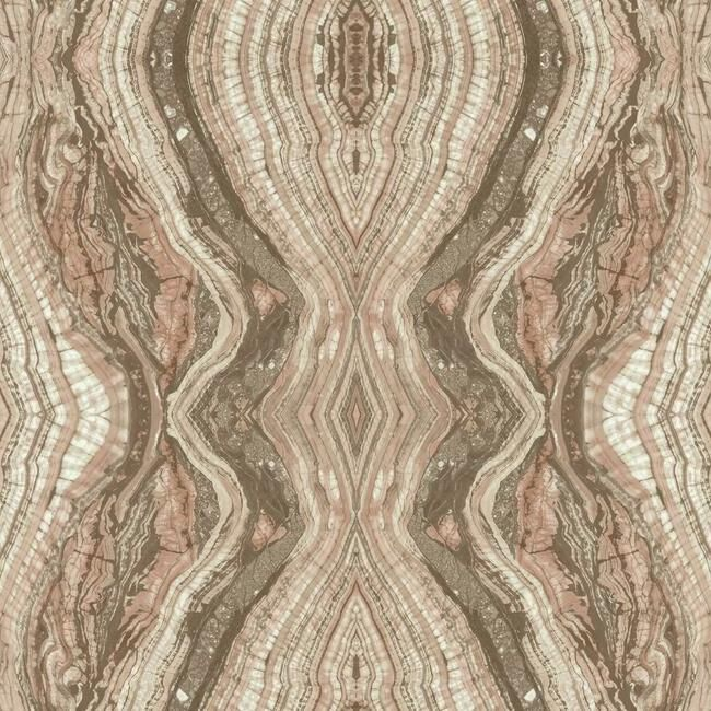 Sample Kaleidoscope Wallpaper in Pale Pink by Antonina Vella for York Wallcoverings
