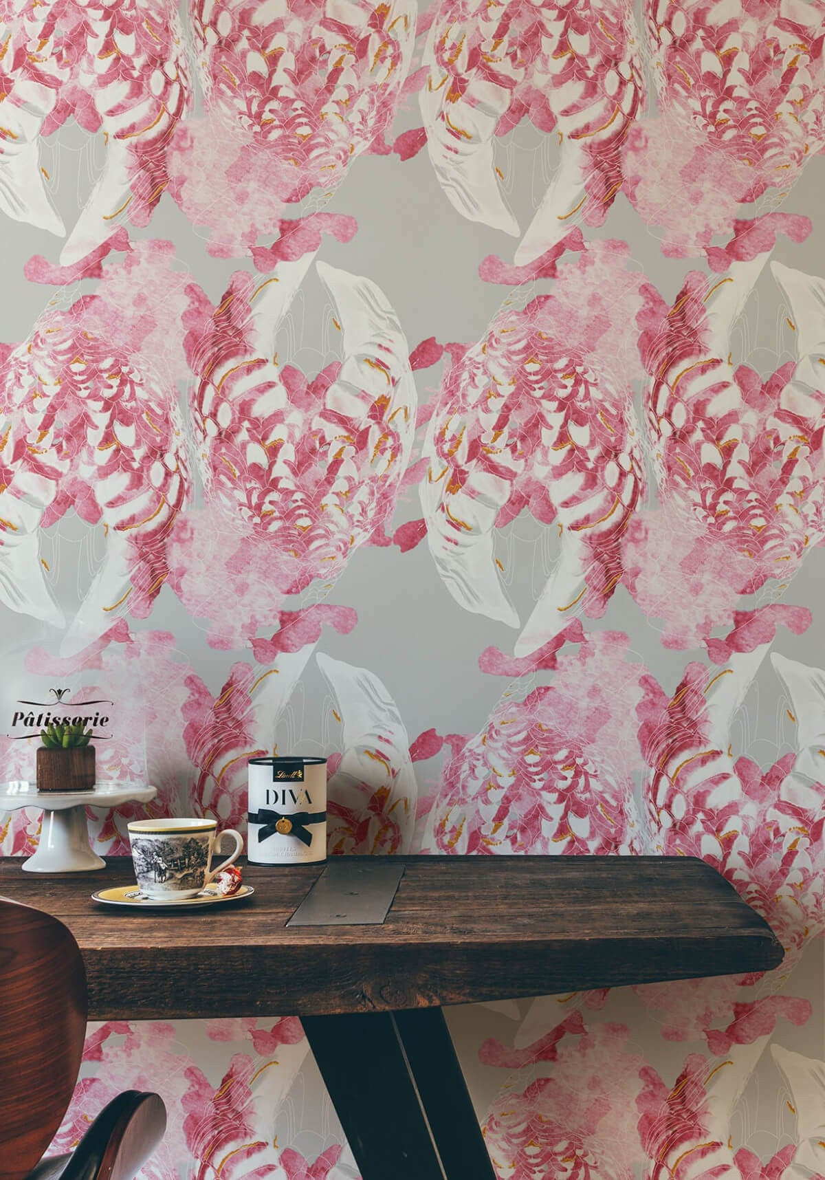 Kandos Wallpaper in Mulberry from the Ella & Sofia Collection by Milton & King