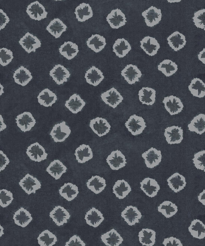 Sample Kanoko Wallpaper in Midnight from the Shibori Collection by Milton & King