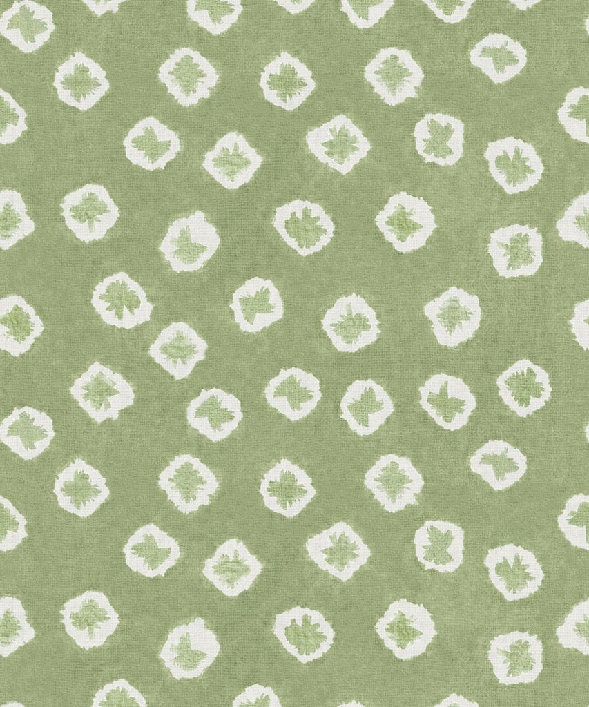 Sample Kanoko Wallpaper in Willow from the Shibori Collection by Milton & King