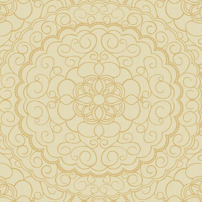 Karma Wallpaper in Beige design by Candice Olson for York Wallcoverings