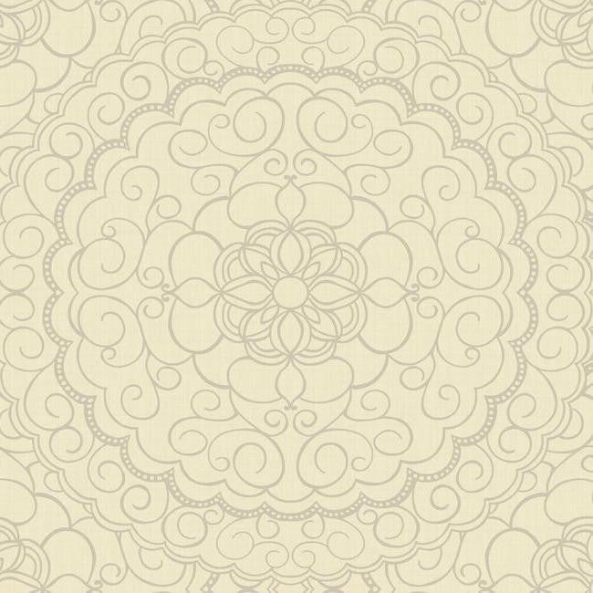 Sample Karma Wallpaper in Gold and Silver design by Candice Olson for York Wallcoverings