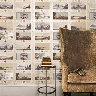 Keightley's Folio Wallpaper by Nina Campbell for Osborne & Little