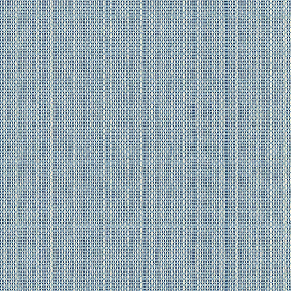 Sample Kent Blue Faux Grasscloth Wallpaper from the Seaside Living Collection by Brewster Home Fashions