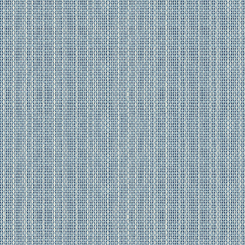 Kent Blue Faux Grasscloth Wallpaper from the Seaside Living Collection by Brewster Home Fashions