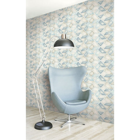 Kentmere Geo Wallpaper from the Lugano Collection by Seabrook Wallcoverings