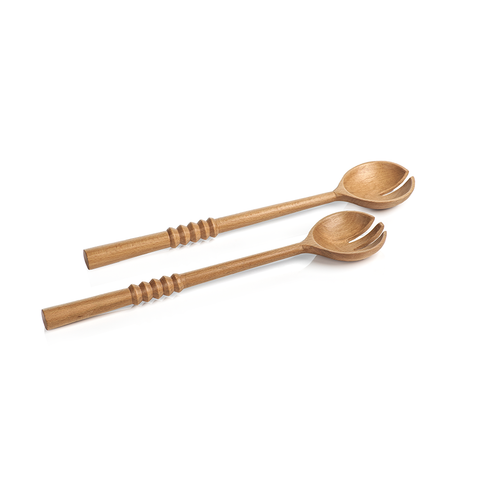 Kenya All Wood Salad Server by Panorama City