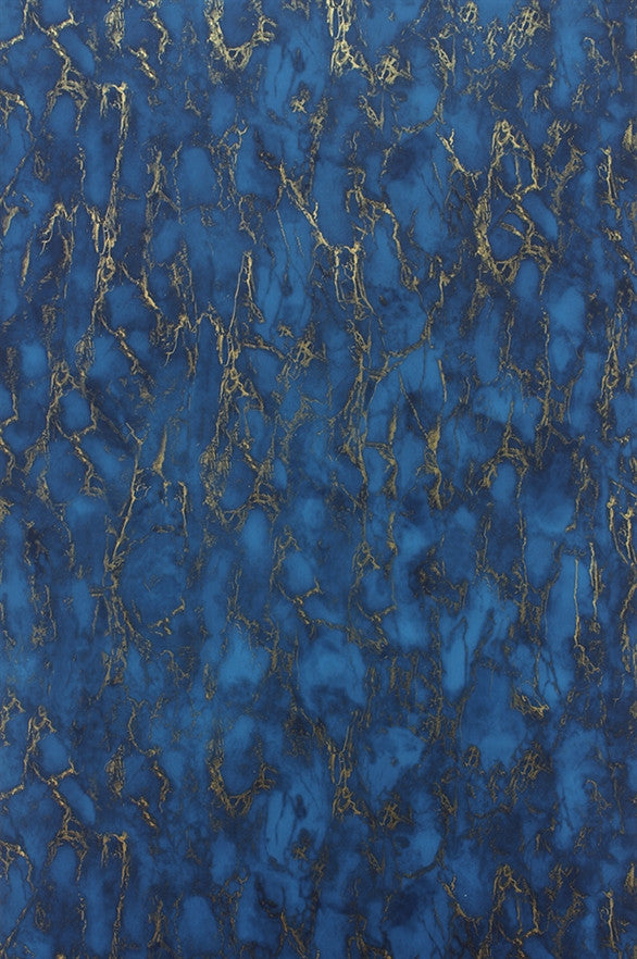 Kershaw plain wallpaper in lapis blue by nina campbell for for Plain blue wallpaper for walls