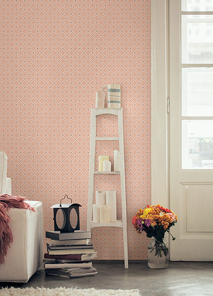 Kinetic Geometric Floral Wallpaper from the Symetrie Collection by Brewster Home Fashions