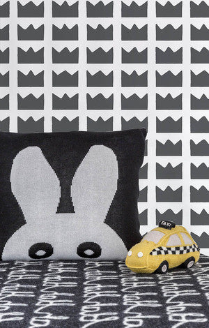 Kingdom Wallpaper in Charcoal by Marley + Malek Kids
