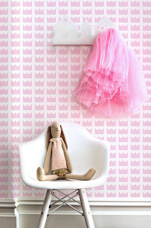 Kingdom Wallpaper in Pink by Marley + Malek Kids