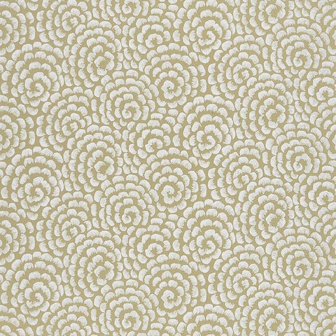 Kingsley Wallpaper in Gold and Ivory from the Ashdown Collection by Nina Campbell for Osborne & Little