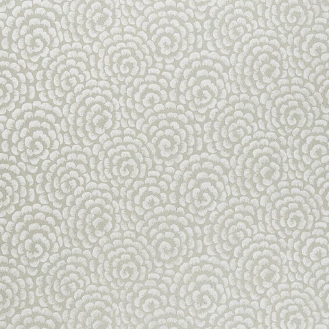 Kingsley Wallpaper in Silver and Ivory from the Ashdown Collection by Nina Campbell for Osborne & Little