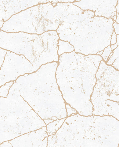 Kintsugi is the Japanese art of repairing broken objects with powdered gold, silver, or platinum, to embrace it imperfections. Our kintsugi wallpaper not only looks fabulous but turn any old, dull walls into an opulent and stylish surface.