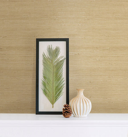 Kostya Cream Grasscloth Wallpaper from the Jade Collection by Brewster Home Fashions