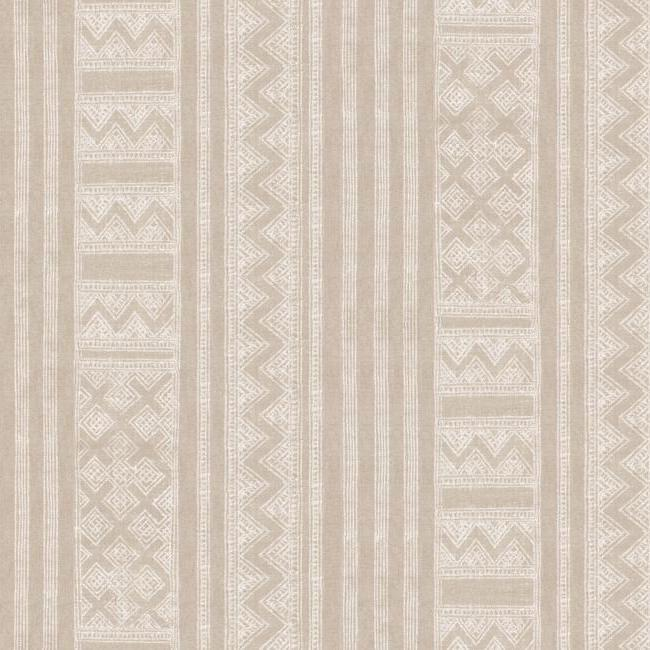 Kotobi Wallpaper in Beige by Christiane Lemieux for York Wallcoverings