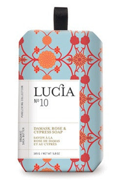 Lucia Damask Rose and Cypress Soap design by Lucia