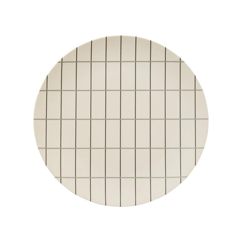 Bamboo Grid Tray - Large - Offwhite / Anthracite