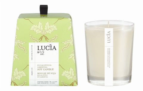 Eucalyptus and Gardenia Soy Candle design by Lucia