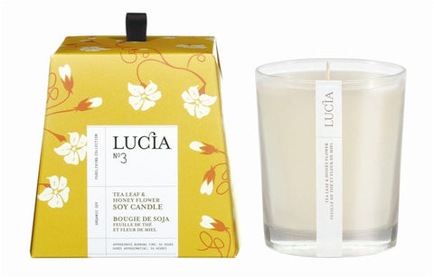Lucia Tea Leaf & Wild Honey Soy Candle design by Lucia