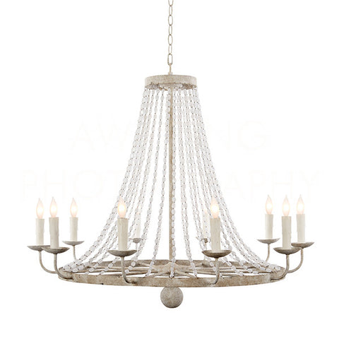Medium Naples Chandelier In White design by Aidan Gray